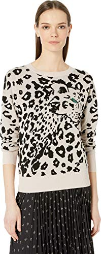 Rebecca Taylor Women's Printed Pullover, Cream/Black M