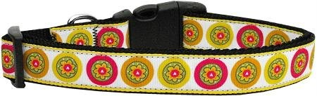 Mirage Pet Products Autumn Daisies Dog Collar, Large