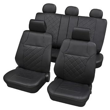 Auto Sitzbezüge Sitzbezug Schonbezüge Comfort Grau Komplettset Kunstleder TOP