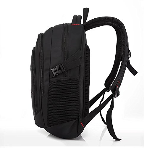 Laptop-Rucksack 12-17 Zoll Laptoptasche,Wasserdichte Business Schulrucksack Unisex Daypack Casual Backpack Reiserucksack Multifunktionsrucksack (Rot) Großer-schwarz