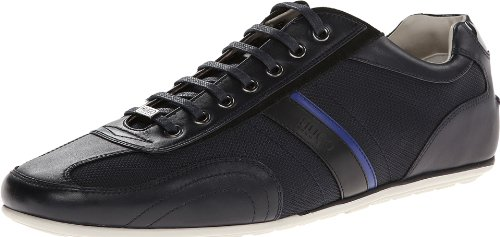 HUGO Hugo Boss Mens Thatoz Leather Sneaker Medium Blue O3o4o