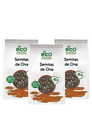 Ecocesta Semillas de Chía - Paquete de 3 x 250 gr - Total ...