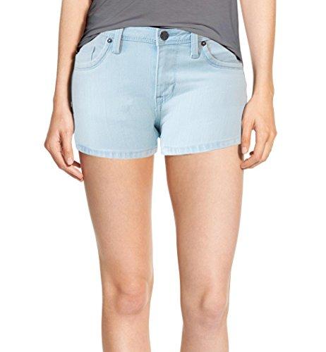 Womens Classic Comfy 5 Pockets Denim Shorts SH22888 Bleach - Bleach Denim