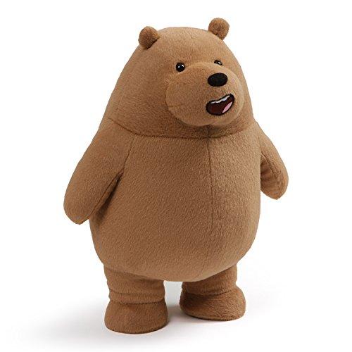 GUND We Bare Bears Standing Grizz Stuffed Plush Bear, - Toys Cartoon Network