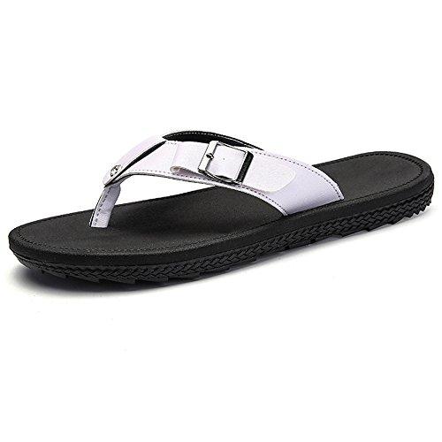 XIAOLIN Zapatillas de verano coreano sandalias y zapatillas de los hombres Zapatillas de exterior deslizamiento marea baja gruesa deslizamiento sandalias zapatillas (tres colores para elegir) (tamaño  03