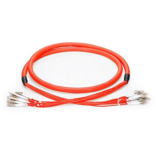 12 Fibers LC Multimode 62.5/125 12 core Bunch Fiber Optic Patch Cable (45m, Branch Cable:2.0mm) -