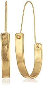 Robert Lee Morris Tricolore Large Gold Sculptural Hoop Earring