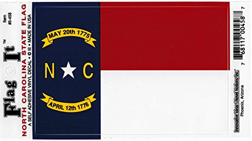 North Carolina State Flag Car Decal Sticker [3.5x5