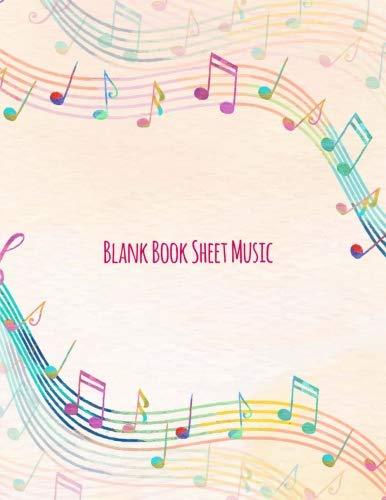 Blank Book Sheet Music: Standard Wirebound Manuscript Paper / Music Manuscript Paper / Staff Manuscript Paper / Staff Paper / Musicians Notebook / 98 pages ()
