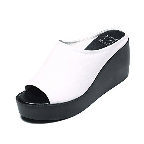 Zapatillas Sandalias Blanco Qidi Aire Caucho uk7 Tamaño Mujer Eu40 Negro Color Libre Ejercicio wI8xq