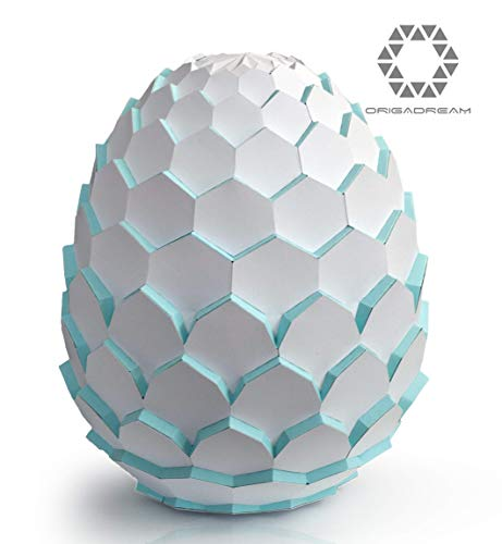 Dragon Egg Papercraft Kits 3D Pre-cut kit self-assembly for Home Decor, got Puzzle 3D, Easter egg, Dinosaur egg ORIGADREAM ()