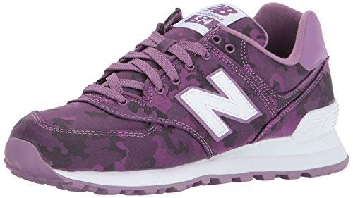New Balance Women's 574 Camo Pack Lifestyle Fashion Sneaker, Kite Purple/White, 9 B - Purple Camo Fabric
