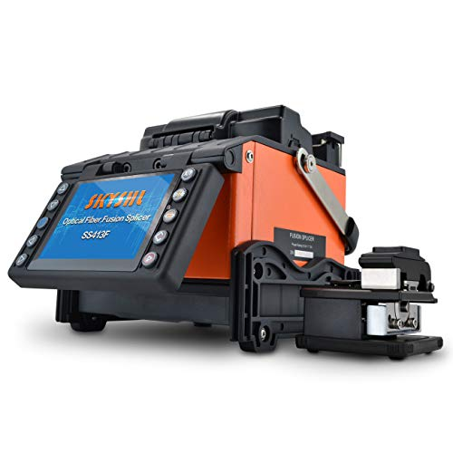 SKYSHL Core Alignment Optical Fiber Fusion Splicer (With 4pairs Electrodes) FTTH Auto Fiber Splicing Machine for SM MM DS NZDS (SS413F)