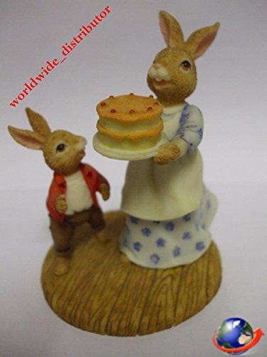 Royal Doulton Bunnykins MRS BUNNYKINS AND WILLIAM THE BIRTHDAY CAKE DBR 13 Handpainted Polyresin Matt Finish Figurine