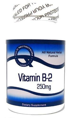 Vitamin B-2 (Riboflavin) 250mg 100 Capsules ^GLS