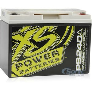 XS Power PS240A 12-Volt Deep Cycle AGM Powersports Battery Cell with 800 Max Amps for Audio Systems up to 600W
