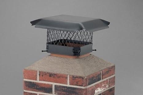 9 x 9 HY-C Single Flue Bolt-On Chimney Cap Size