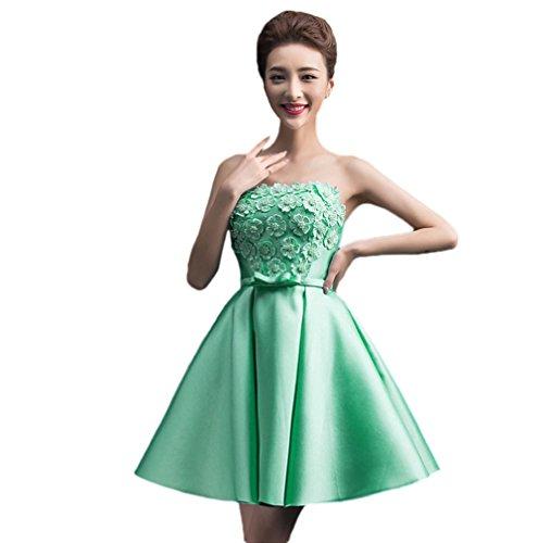 Trapecio Claro Vestido Verde Vimans Para Mujer SF5YCxWSqw