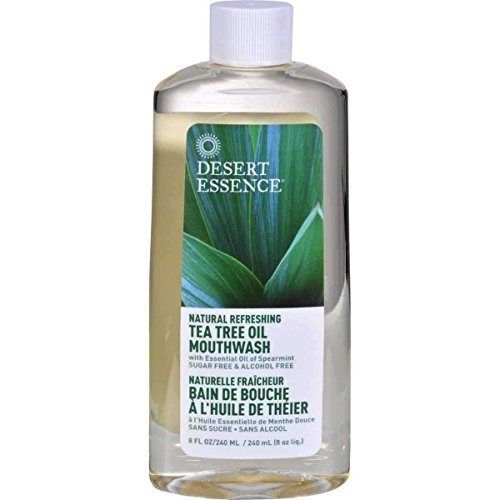 Refreshing Natural (Desert Essence Natural Refreshing Tea Tree Oil Mouthwash, Spearmint 8 oz)