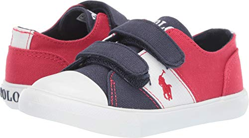 (Polo Ralph Lauren Kids Baby Boy's Dawsyn EZ (Toddler) Navy/Red Canvas/White Ripstop/Red Pony 5 M US Toddler)