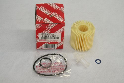 Toyota Genuine Parts 04152-YZZA1 Oil Filter and 90430-12028 Oil Drain Plug Gasket Oil Change Kit (Toyota Oil Drain Plug compare prices)