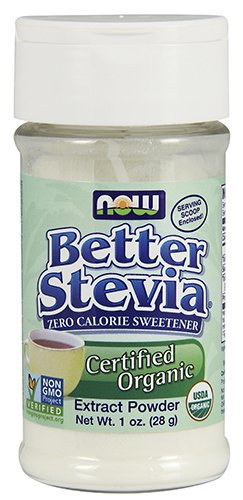 NOW Foods Better Stevia Organic Zero Calorie Powdered Sweetener -- 1 oz