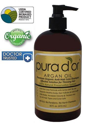 Pura d'ou perte prime biologique anti-Shampooing (Gold Label), 16 Fluid Ounce