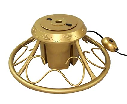 Charming CMI Heavy Duty Fancy Gold Metal Rotating Artificial Christmas Tree Stand