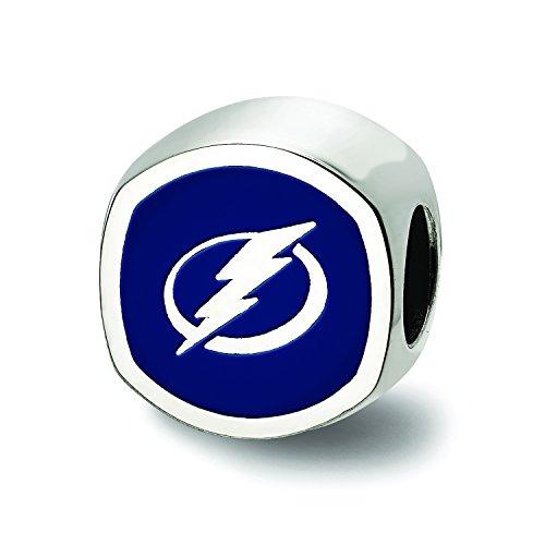 Shaped Bead Cushion (Tampa Bay Lightning Cushion Shaped Logo Bead (Sterling Sliver))