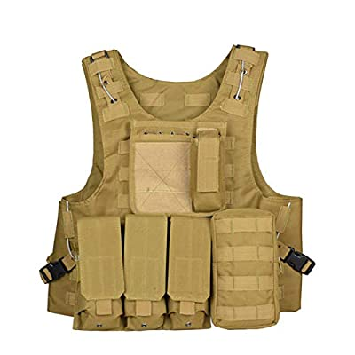 Eleanos Tactical MOLLE Combat Vest Airsoft Camouflage Police Fully Adjustable