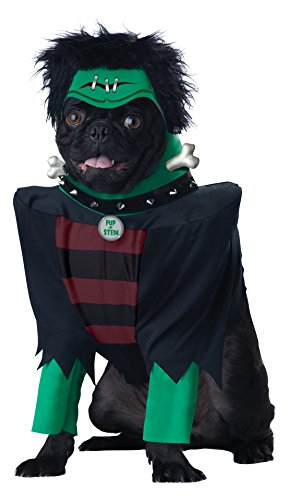 Dog Halloween Costumes Frankenstein (California Costumes Frankenpup Dog Costumes, Pet, Black/Green,)