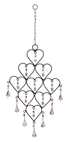 (Deco 79 Metal Heart Wind Chime)