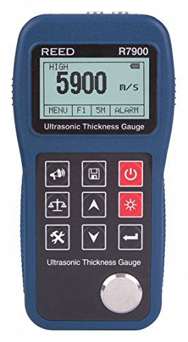 Thickness Ultrasonic Tester (REED Instruments R7900 Ultrasonic Thickness Gauge, 11.8