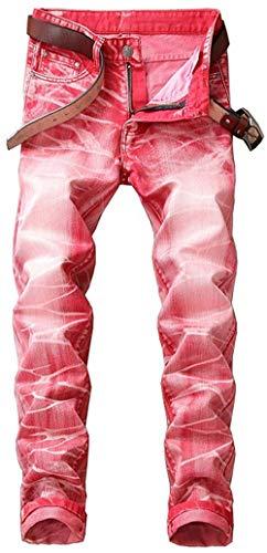 Casual Colori W29 10 Pantaloni Marea Cher Uomo Dritto Coscia Classic Slim Fit W42 Denim Stonewash R Moderna Strappato Jeans Buche Distrutto Biker qp0fAn1