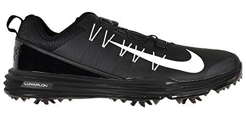 Nike Men's Lunar Command 2 BOA Golf Shoes, Black/White/Black, 10.5 M US