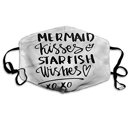 (Xo Dust Mouth Mask Mermaid Kiss Starfish Quote for Men and Women W4