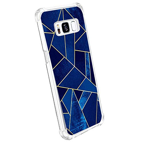 Case Compatible with Samsung Galaxy S8 Case Cover Reinforced Corners TPU Cover (Gril Black)]()