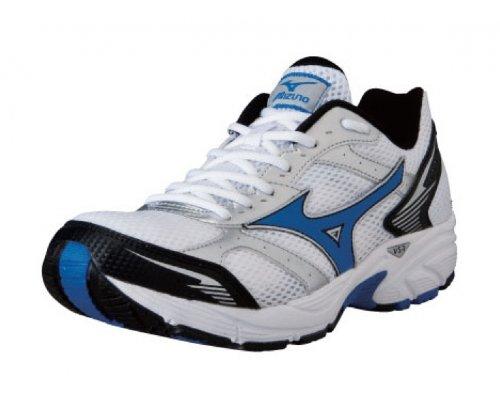 MIZUNO Wave Crusader 7 Zapatilla de Running Caballero, Blanco/Negro/Azul, 42.5: Amazon.es: Zapatos y complementos