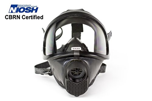 CDR 4500 Elite Gas Mask For Nuclear , Biological & Chemical Warfare NBC Protection Military Grade US NIOSH Certified Survival Full Face Mask With Filter For Kids Adults, Comfortable Robust Design by Drager