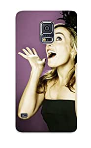 Trolleyscribe Scratch-free Phone Case For Galaxy S5- Retail Packaging - Blondes Women Kate Winslet Actress Purple