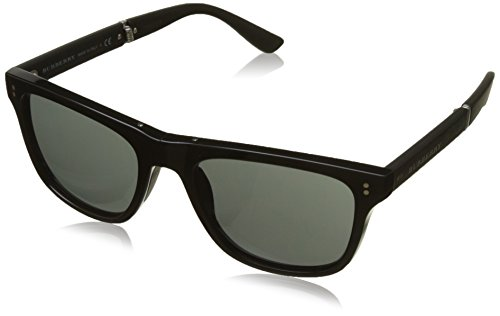 Burberry Men's BE4204 Sunglasses Black / Dark Grey - Wayfarer Burberry Sunglasses