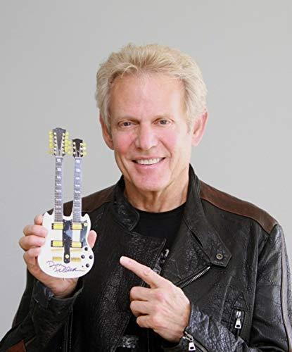"""Don Felder Mini Replica of his Gibson Custom Shop """"Hotel California"""" Double Neck White Guitar BAS COA"""