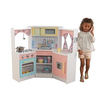 KidKraft 53368 Cocina infantil de juguete Deluxe para esquina ...