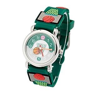 Kid's Watch Vinmori, with 3D Cute Cartoon Pattern Silicone Band Waterproof Quartz Watch Gift for Kids Children