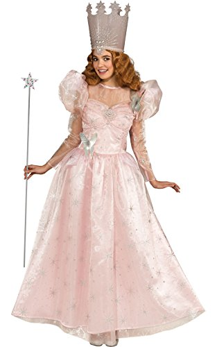 Deluxe Glinda Adult Costumes (Rubie's Costume Wizard Of Oz Deluxe Adult Glinda The Good Witch with Dress and Crown, Pink, Adult One Size)
