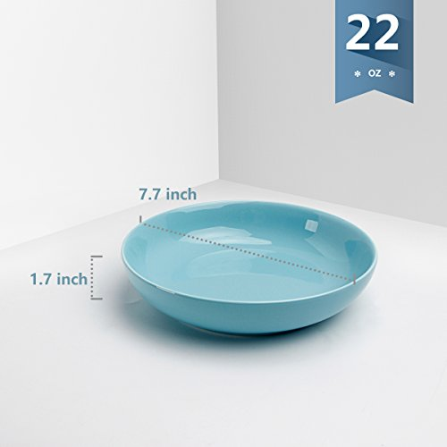 Sweese 1310 Porcelain Salad/Pasta Bowls - 22 Ounce - Set of 6, Assorted Colors by Sweese (Image #2)