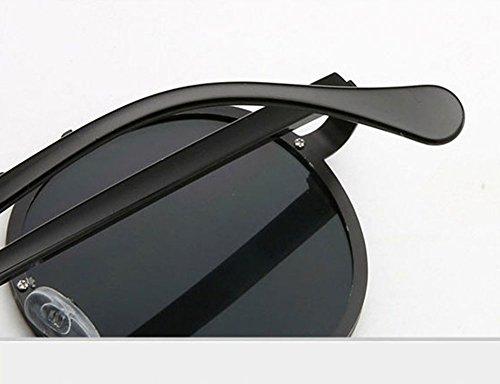 soleil classique Keephen lunettes de Polarized Steampunk Or Retro en cadre Round métal Rose Frame ww0rP