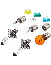 Unitec 73085 H7 - Maletín con recambios de bombillas y fusibles de enchufe planos