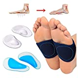 Plantar Fasciitis Foot Arch Support Set for Flat Foot, Plantar Fasciitis and Calcaneal Spines(6 Pcs)