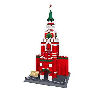 Russian Spasskaya Tower of Moscow Kremlin Russia Building Blocks 1044 Pcs Huge Gift Box !! World's Great Architecture Series
